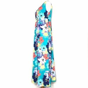 Coldwater Creek Dresses - Coldwater Creek Green Floral Maxi Dress A150742